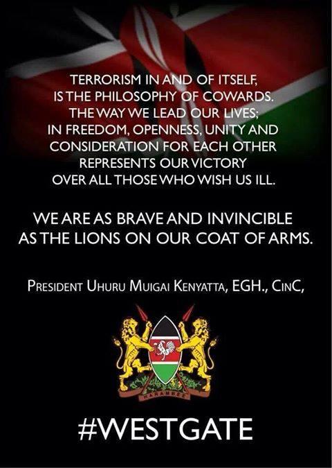 Solidarité pour les victimes de l'attaque du Centre Commercial Westgate de Nairobi